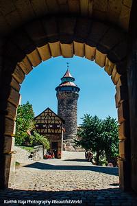 Sinnwell Tower and Tiefer Brunnen, Nuremberg Castle, Nuremberg, Bavaria, Germany