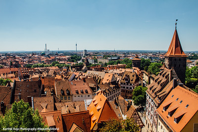 View from Nuremberg Castle, Nuremberg, Bavaria, Germany