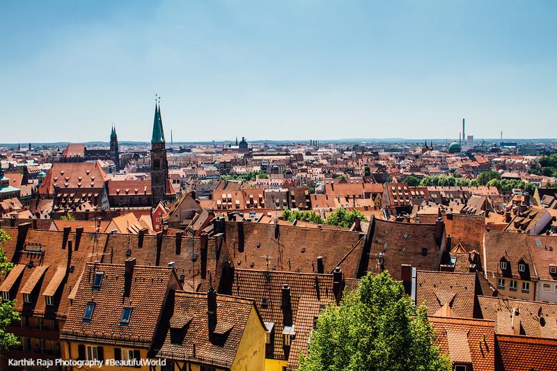 View from Nuremberg Castle, Nuremberg, Bavaria, Germany