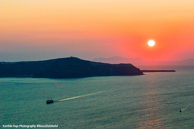 Sunset, Santorini, Greece