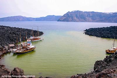 The crater, Santorini
