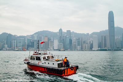 Coast guard boat to Hong Kong