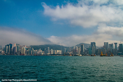 Hong Kong across Victoria Harbor