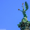 Statue of the archangel Gabriel, Heroes Square, Budapest, Hungary
