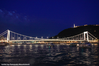 Bridge across the Danube, Liberty Statue, Budapest, Hungary
