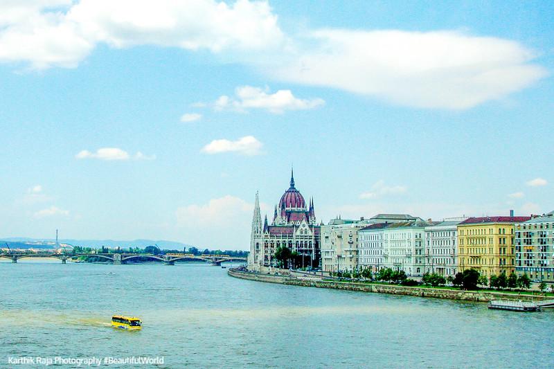 Danube, separating Buda and Pest, Hungary