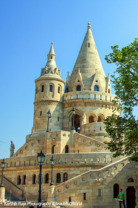 Buda Castle, Towers of Fisherman's Bastion,  Budapest, Hungary