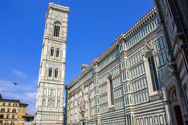 Giotto's Campanile - freestanding tower, Basilica di Santa Maria del Fiore (Duomo), Florence, Italy
