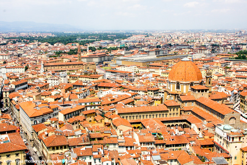 Florence from the tower of Basilica di Santa Maria del Fiore (Duomo), Florence, Italy