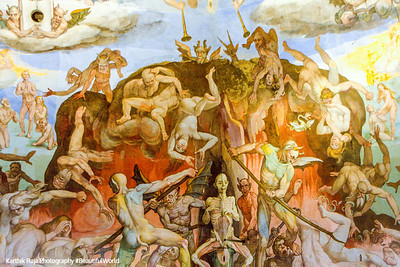 The depths of hell, Dome painting, Basilica di Santa Maria del Fiore (Duomo), Florence, Italy