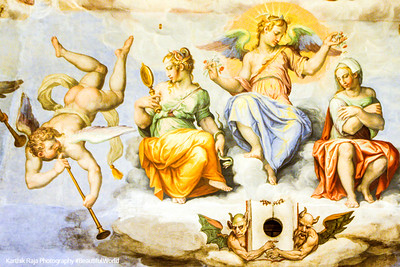 Angels, Dome painting, Basilica di Santa Maria del Fiore (Duomo), Florence, Italy