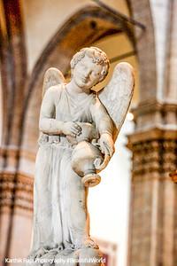 Statue inside the Basilica di Santa Maria del Fiore (Duomo), Florence, Italy