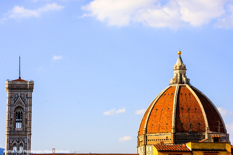 Dome and Tower of the Basilica di Santa Maria del Fiore (Duomo), Florence, Italy