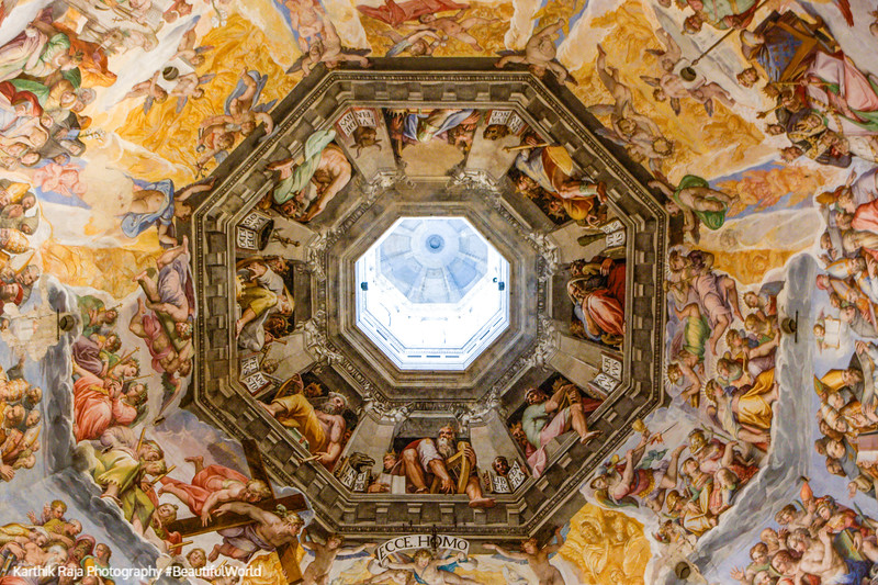 The Last Judgment inside the dome - Giorgio Vasari and Federico Zuccari, Basilica di Santa Maria del Fiore (Duomo), Florence, It