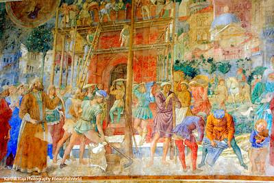 Fresco - Stories of Job, by Taddeo Gaddi, Pisa, Italy