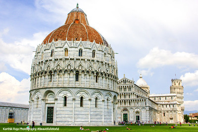The Piazza del Duomo - Baptistery, Cathedral, cemetery and the Leaning Tower, Pisa, Italy