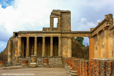 An ancient basilica - in those days basilica refered to a grand hall, Pompeii, Italy