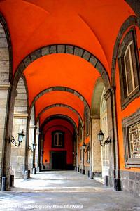 Corridors of the Royal Palace, Naples, Italy