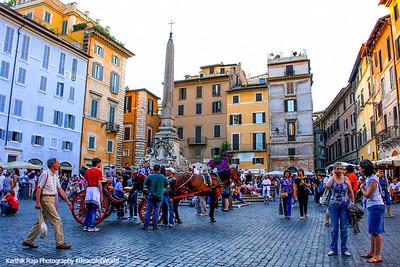 Obelisk, Piazza della Rotonda infront of the Pantheon, Rome Italy