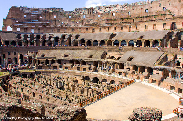 Inside the The Colloseum, Rome, Italy