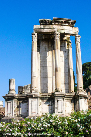 Temple of the Vestals, The Roman Forum, Rome, Italy