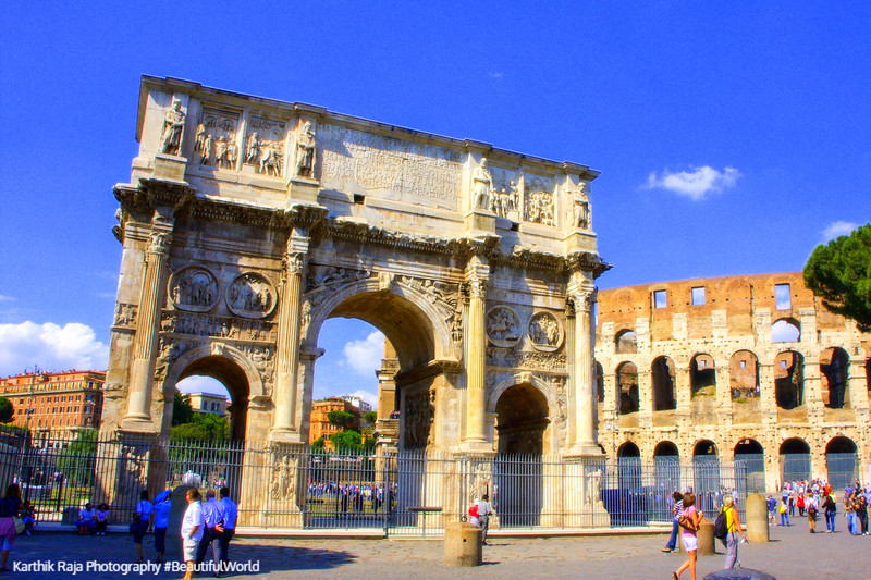 Arch of Constantine, The Roman Forum, Rome, Italy