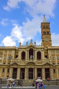 The Basilica of Santa Maria Maggiore, Rome Italy