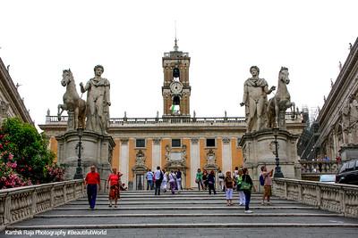 Statue, horse, Capitolini Museum at Campidoglio, Rome, Italy