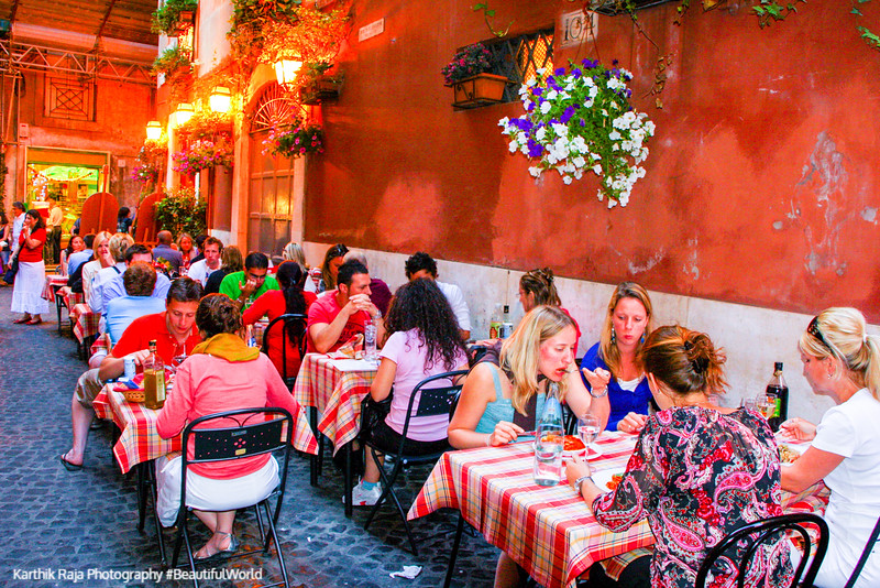 Dinner, Rome, Italy
