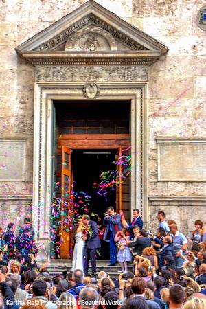 Basilica of Santa Maria degli Angeli e dei Martiri - designed by Michelangelo - perfect for a wedding, Rome, Italy