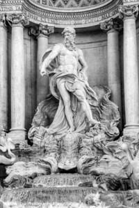 Pietro Bracci's Neptune, Trevi Fountain, Rome, Italy