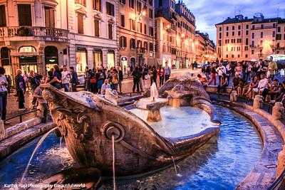 Fountain of the Barcaccia - P. Bernini, Rome, Italy
