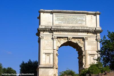 Arch of Titus, The Roman Forum, Rome, Italy