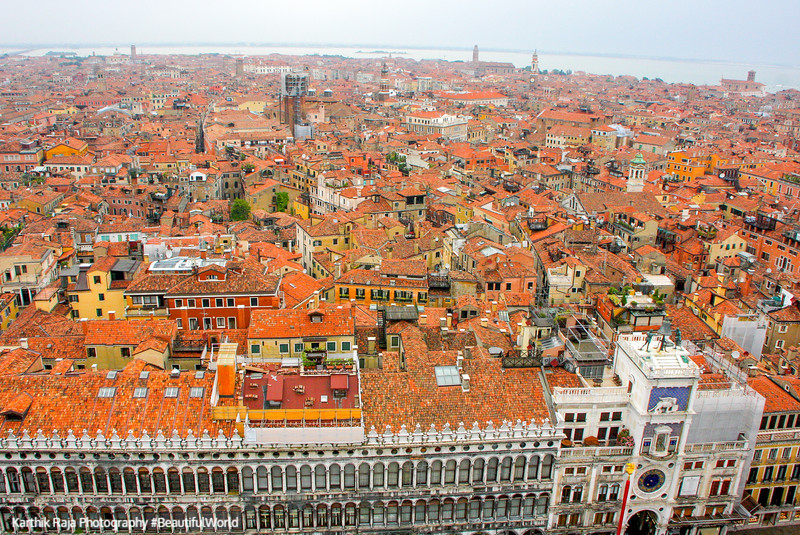 View from St.Mark's Campanile, Venice, Italy