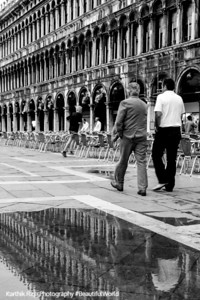 Walking in St. Mark's Square, Venice, Italy