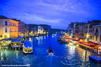Grand Canal from the Rialto Bridge, Venice, Italy