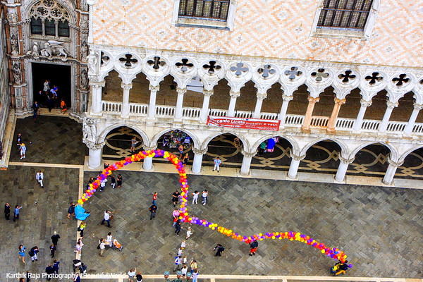 Festivities in St. Mark's Square, Venice, Italy