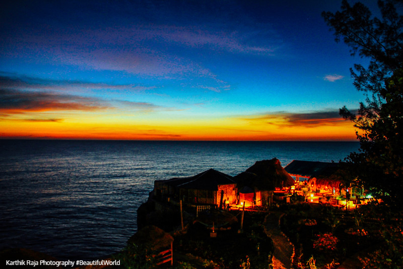 Caribbean sea from the cliffs of Negril, Jamaica