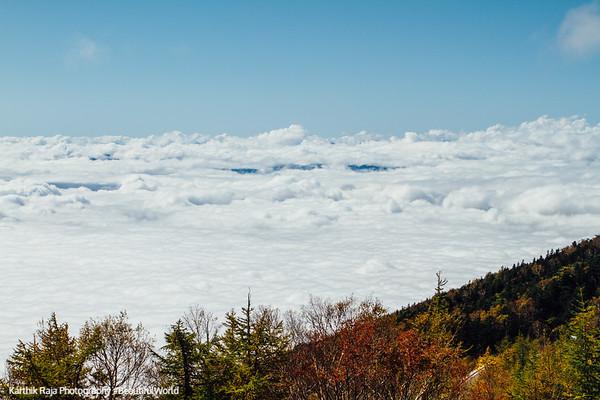 View from Mt. Fuji, above the clouds, Fujinomiya 5th Station, Fuji-Hakone-Izu National Park, Japan