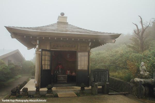 Temple, Owakudani, Fuji-Hakone-Izu National Park, Japan