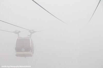 Into the clouds, Cable car, Hakone Ropeway, Fuji-Hakone-Izu National Park, Japan