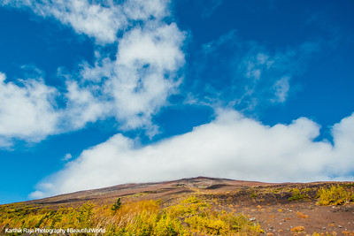 Mt. Fuji, Fujinomiya 5th Station, God watching over the mountain, Fuji-Hakone-Izu National Park, Japan