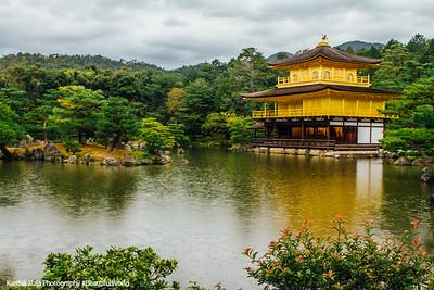 Kinkaku-ji shariden, Temple of the Golden Pavilion, Ashihara Island, Kyoto, Japan