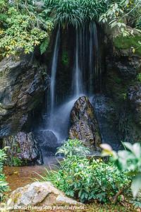 Waterfalls, Kinkaku-ji shariden, Temple of the Golden Pavilion, Ashihara Island, Kyoto, Japan