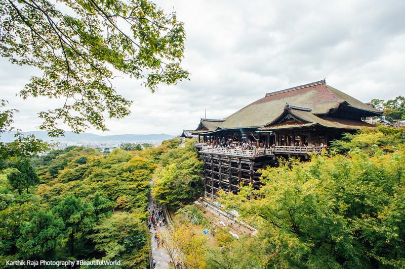 Hondo, main hall, Kiyomizu-dera, Kyoto, Japan