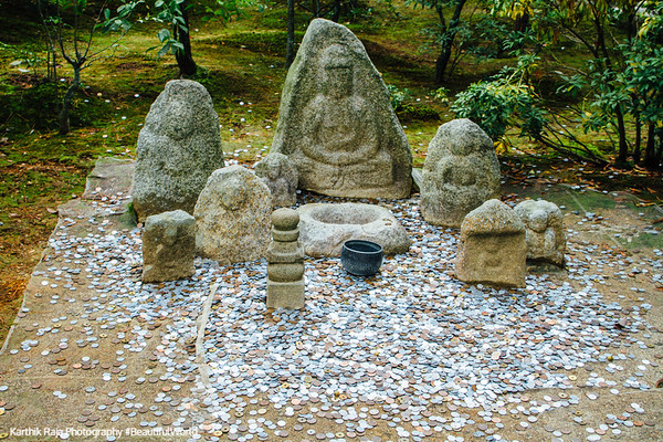 Rokuon-ji Temple donations, Kinkaku-ji, Kyoto, Japan