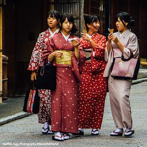 Japanese Ladies, Kiyomizu-dera, Kyoto, Japan