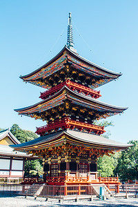 Three storied pagoda, Narita-san Shinshō-ji Temple, Narita, Japan