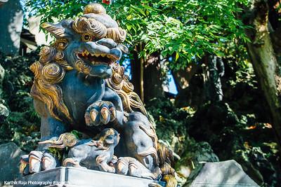 Lion, Narita-san Shinshō-ji Temple, Narita, Japan