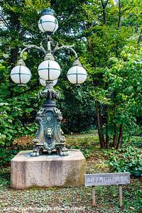Lamp post, Edo Castle Gardens, Tokyo Imperial Palace, Tokyo, Japan